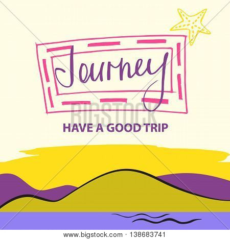 Illustration For Advertising Tourism Companies, Tour Operators.