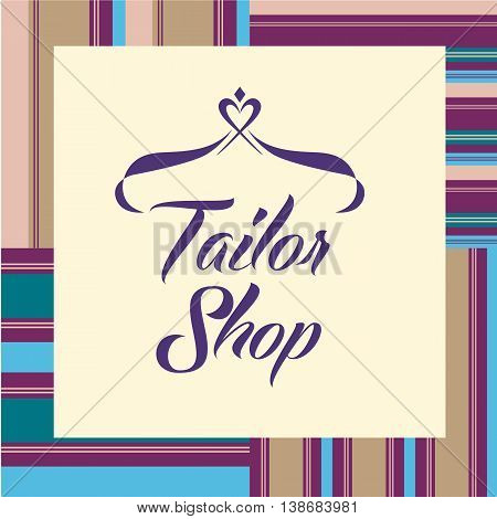 Vector Logo On White Background For Salon Tailoring. Illustratio