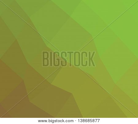 Gradient low poly green triangle style vector mosaic background