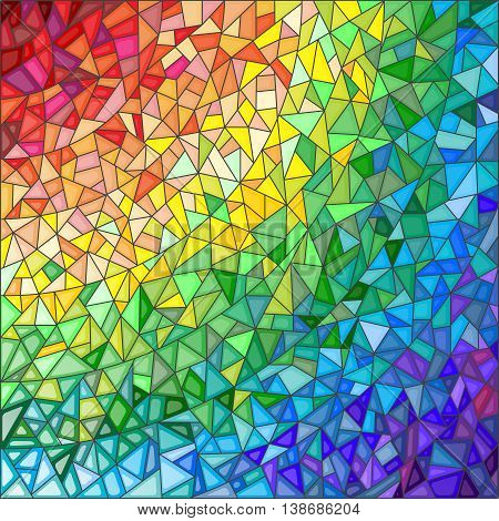 Abstract stained glass background the colored elements arranged in rainbow spectrum