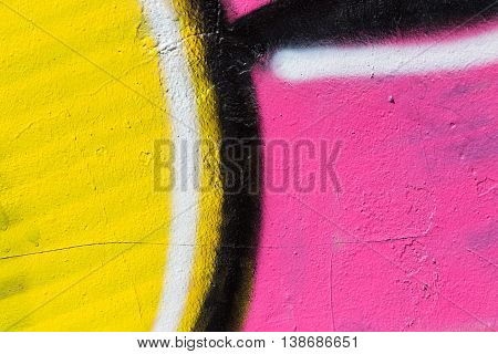 Closeup Abstract Painted Wall Of The City