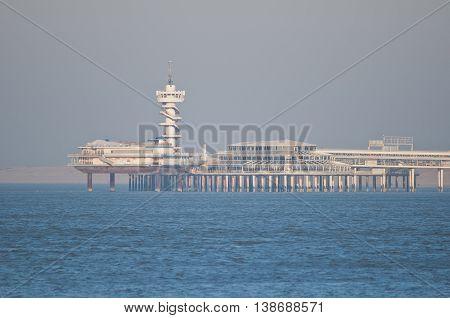 View on the Pier of Scheveningen the Netherlands