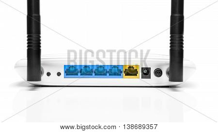White router isolated on a white background.