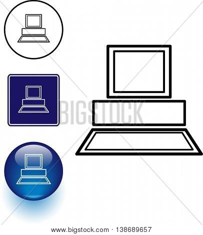 computer symbol sign and button
