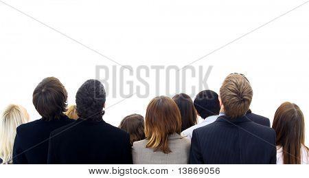 pessoas do grupo isoladas no fundo branco