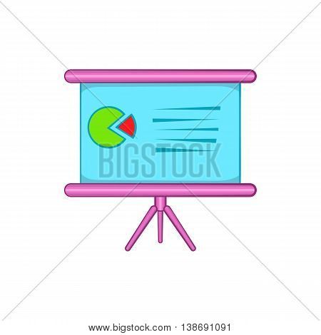 Table with schedule icon in cartoon style isolated on white background. Presentation symbol