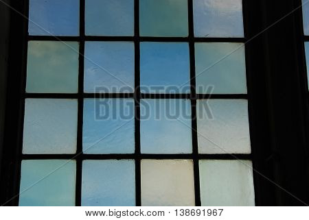 Looking through a leaded window, abstract background