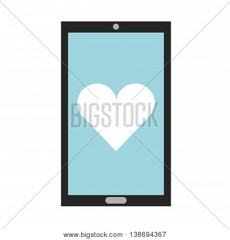 smartphone heart icon touchscreen phone illustration vector