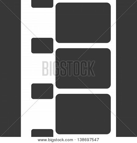 Vector 8 mm Film Strip Illustration on Black Background. Abstract Film Strip design template. Film Strip Seamless Pattern.