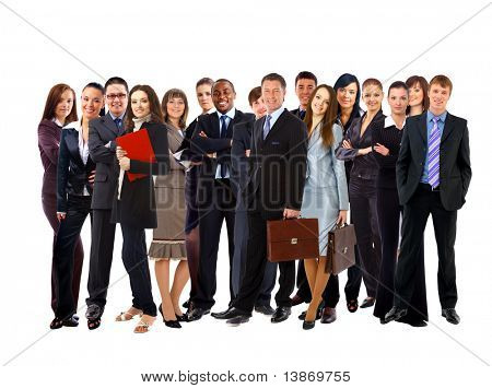 Pessoas de negócios atraente jovem - a equipe de elite de negócios