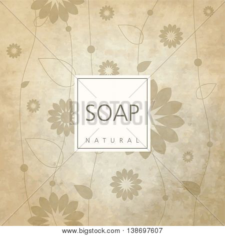 Background for natural handmade soap