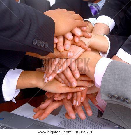 Handshake und Teamarbeit
