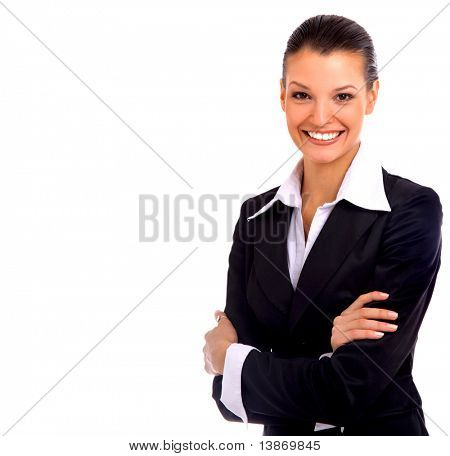 Business-Frau. Isolated over white background