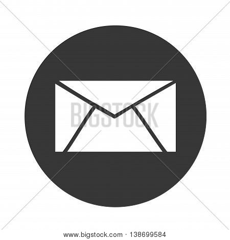 email symbol vector, message norte vector illustration