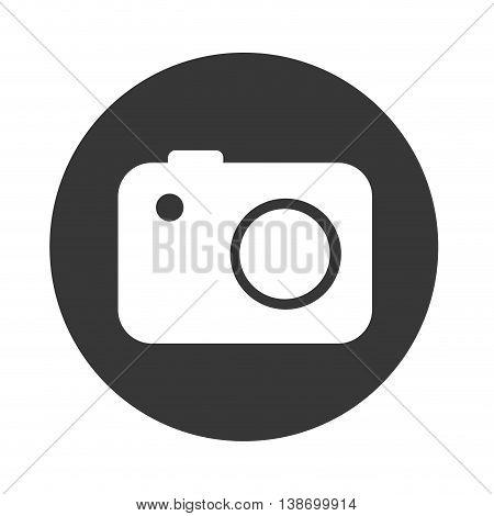 digital camera icon, technology photography vector illustration
