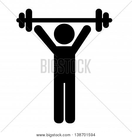 man training workout fit, vector illustration icon