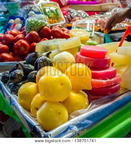 Market Stall With Candys In Coyoacan, Mexico City