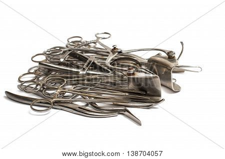 Surgical Operating tool isolated on white background