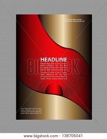 Abstract Flyer or Cover Design. Vector Modern Flyer Design