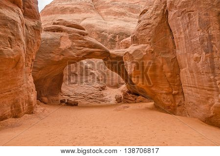 Broken Arch in the Devils Garden area of Arches National Park