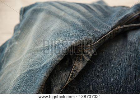 Close up of blue jeans Blue Jeans texture