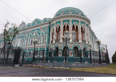 Old building in Yekaterinburg, the Neo-Gothic style