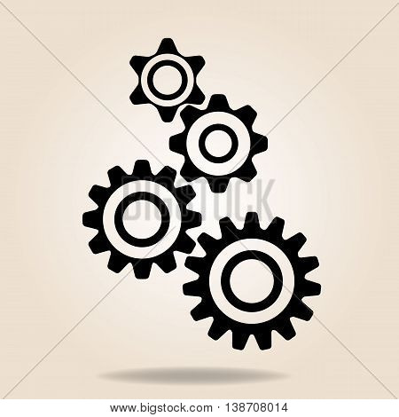 gear, cog, icon, vector, wheel, steel, black, spin, technical,  symbol