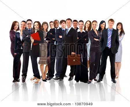 Empresarios jóvenes atractivos - el equipo de la élite empresarial