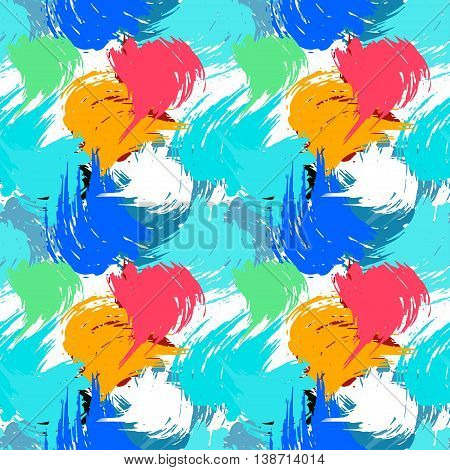Graffiti psychedelic seamless background vector illustration abstract high quality