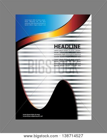 blue Flyer or Cover Design - Business Vector