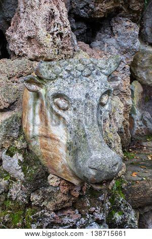 Ox fountain (Font del Bou) - Pobla de Lillet Catalonia Spain