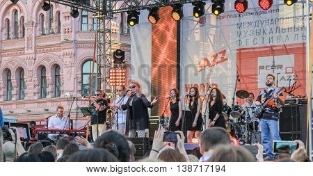 St. Petersburg, Russia - 2 July, Jazz Festival in St. Petersburg, 2 July, 2016. Annual international festival of jazz and blues in St. Petersburg.