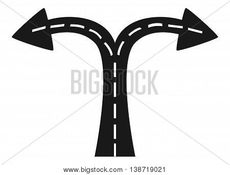 road  junction , Illustration crossroads , Illustration intersection