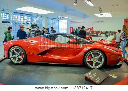MARANELLO, ITALY - OCTOBER, 12 2013: Ferrari Sport Car into the Ferrari Museum