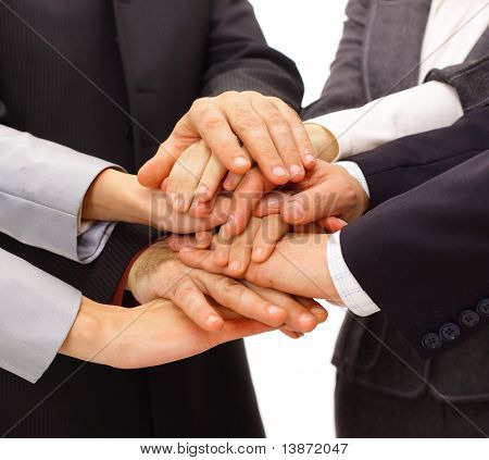 Handshake and teamwork