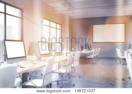 Coworking Office With Blank Frame