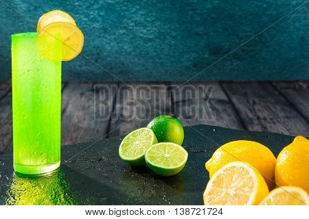 Limes, Lemons And Colored Glasses