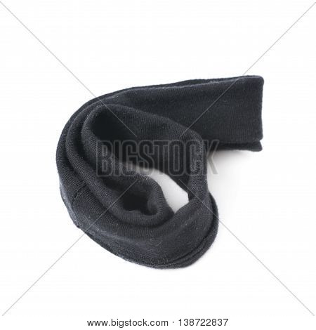 Black hair band isolated over the white background