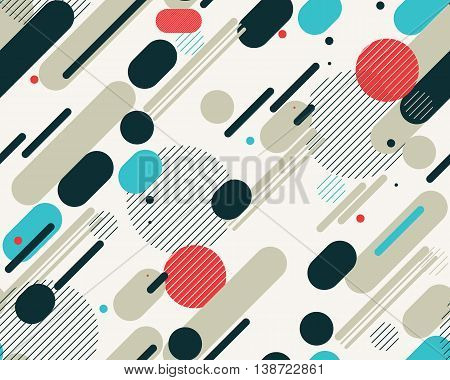 Vector Seamless Parallel Diagonal Red Grey Blue Overlapping Color Lines Pattern Background Perfect Suit For Wallpaper Textile Web Background