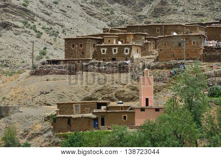 Old village in the Atlas Mountains, Morocco, North Africa