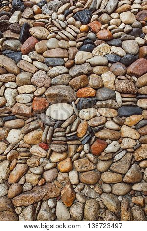 Sea Stones Pebble Texture Background