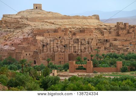 Old village in the Atlas Mountains - Ait-Ben-Haddou, Morocco - UNESCO World Heritage site