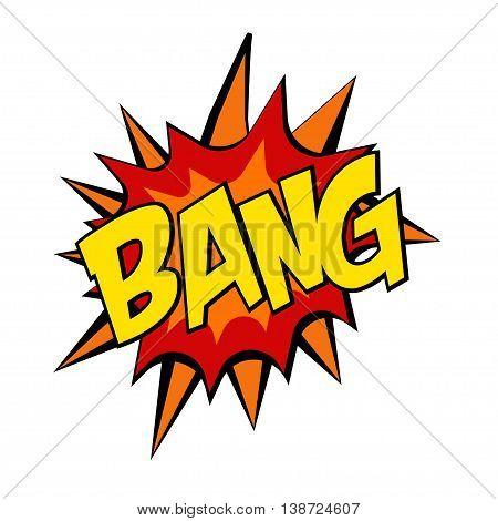 retro cartoon explosion pop art comic bang letter. Vector illustration
