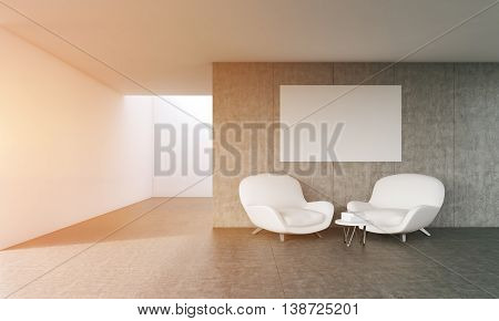 Comfortable Living Room With Poster