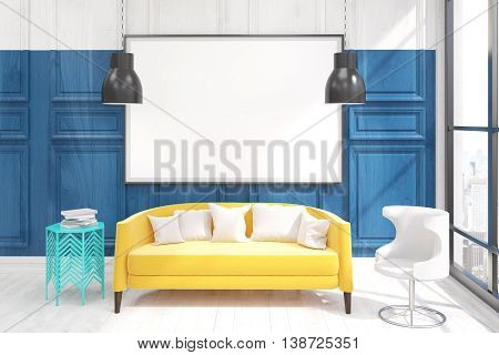 Living Room Interior With Poster