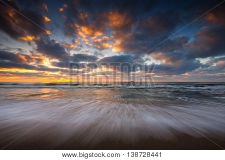 Beautiful Cloudscape Over The Sea