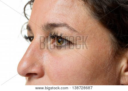 Eyes And Nose Of An Attractive Woman