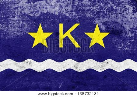 Flag Of Kinshasa, Democratic Republic Of The Congo, With A Vinta