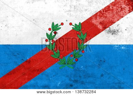 Flag Of La Rioja Province, Argentina, With A Vintage And Old Loo