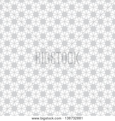 Seamless pattern. Modern simple minimal texture with thin random chaotic lines. Regularly repeating geometrical tiled grid with rhombus diamond stars. Vector contemporary linear design
